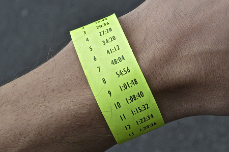 Pacebands: pacing wristbands