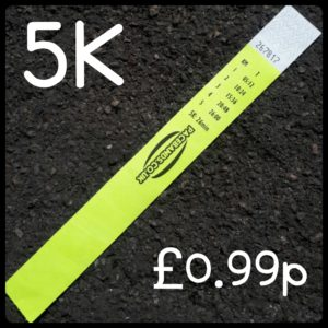5K Pacebands for Parkrun glory to rekindle running motivation